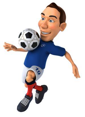 3d动画角色设计 足球与运动员